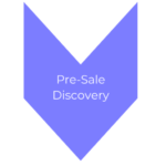 a purple arrow that says 'pre-sale discovery